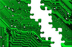 Computer board made of puzzle stock photography