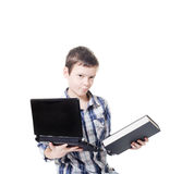 Computer and book Royalty Free Stock Photos