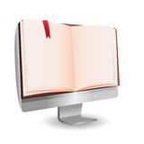 Computer Book reading technology education Royalty Free Stock Images