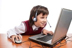 Computer boy Royalty Free Stock Image