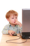 Computer boy Stock Photo