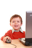 Computer boy Royalty Free Stock Photos