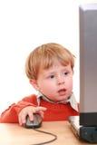 Computer boy Stock Image