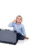 Computer boy stock photos