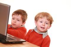 Computer boys Royalty Free Stock Image