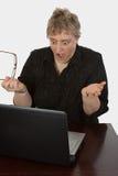 Computer brach ab Lizenzfreie Stockfotos