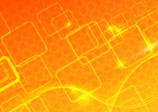 Computer bright orange background Stock Photos