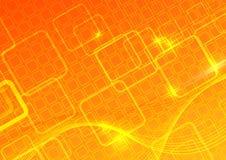 Computer bright orange background. Clip-art Stock Photos