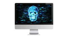 The computer is broken. Hacking confidential information. Hackers on the Internet. Stock Photo