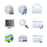 Computer and browser icons Stock Photos
