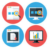 Computer Browser Technology Flat Circle Icons Set Royalty Free Stock Photos