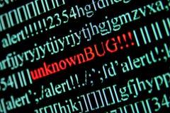 Computer bug. On a screen stock image