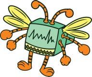 Computer Bug Cartoon Character Royalty Free Stock Photo