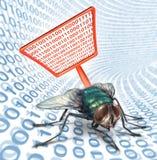 Computer Bug Security Vector Illustration