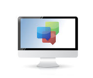 Computer business communication chat. Royalty Free Stock Photo