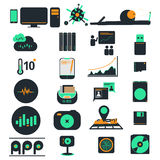 Computer business icons. Computer icons and phone business vector Stock Images