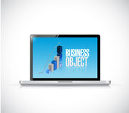 Computer business object graph illustration Royalty Free Stock Photo