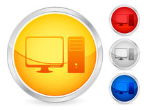 Computer button Royalty Free Stock Photos