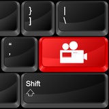 Computer button camera Royalty Free Stock Image