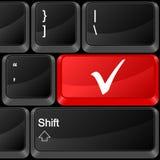 Computer button check symbol Stock Photos