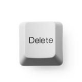 Computer button - delete Royalty Free Stock Photography