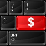 Computer button dollar. Keyboard computer button dollar. Vector illustration Royalty Free Stock Photo