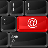 Computer button e-mail Royalty Free Stock Image