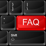 Computer button FAQ royalty free illustration
