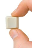 Computer button in hand Royalty Free Stock Images