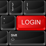 Computer button login Stock Image