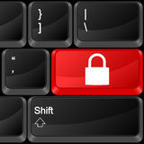 Computer button padlock Royalty Free Stock Photos