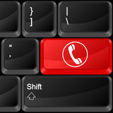 Computer button phone Stock Photography