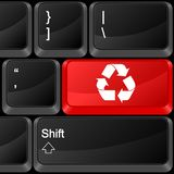 Computer button recycle Stock Photo
