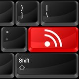 Computer button RSS Stock Photography