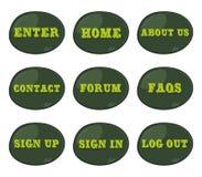 Computer button theme set icon Stock Image