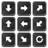 Computer buttons arrows Stock Image
