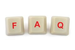 Computer buttons FAQ Royalty Free Stock Photo