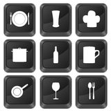 Computer buttons kitchenware Royalty Free Stock Images