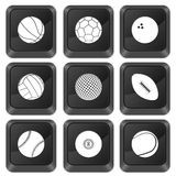 Computer buttons sports. Isolated on a white background Stock Image