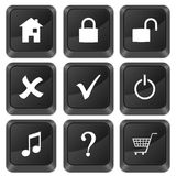 Computer buttons symbol Stock Images