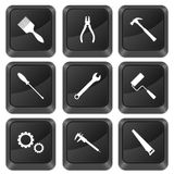 Computer buttons tools Stock Photography