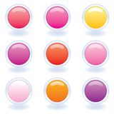 Computer Buttons in Warm Colors Stock Image