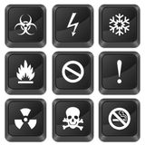 Computer buttons warning sign Royalty Free Stock Photo