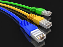 Computer Cable (clipping path included) Stock Images