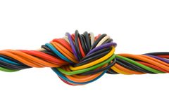 Computer cable with knot Stock Images