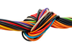 Computer cable with knot Stock Image