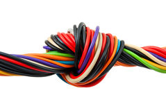 Computer cable with knot Stock Photography