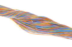 Computer cable network connections Royalty Free Stock Photo