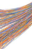 Computer cable network connections Stock Photography