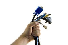 Computer cables Royalty Free Stock Image